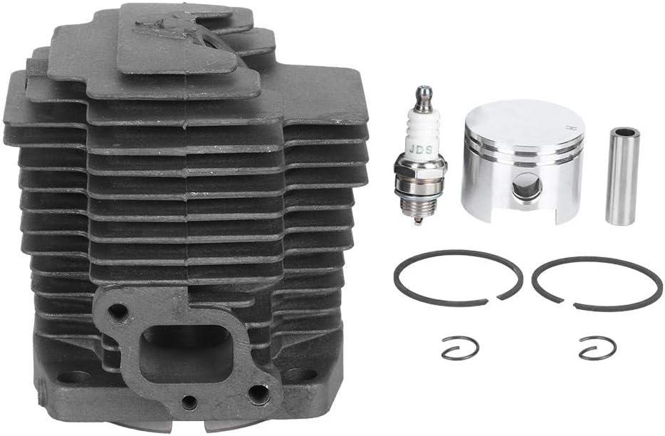 Fdit Kit de Conjunto de pistón de Cilindro 11005-2123 Motosierra Kit de pistón de Cilindro Apto para Kawasaki TH48 KBH48A HA048J Trimmer 44mm