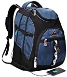 Travel Laptop Backpack,College School Backpack With USB Charging Port, Extra Large TSA Water Resistant Business Backpack,Big Computer Bag Fit 15-6 Inch Laptop And Notebook-blue
