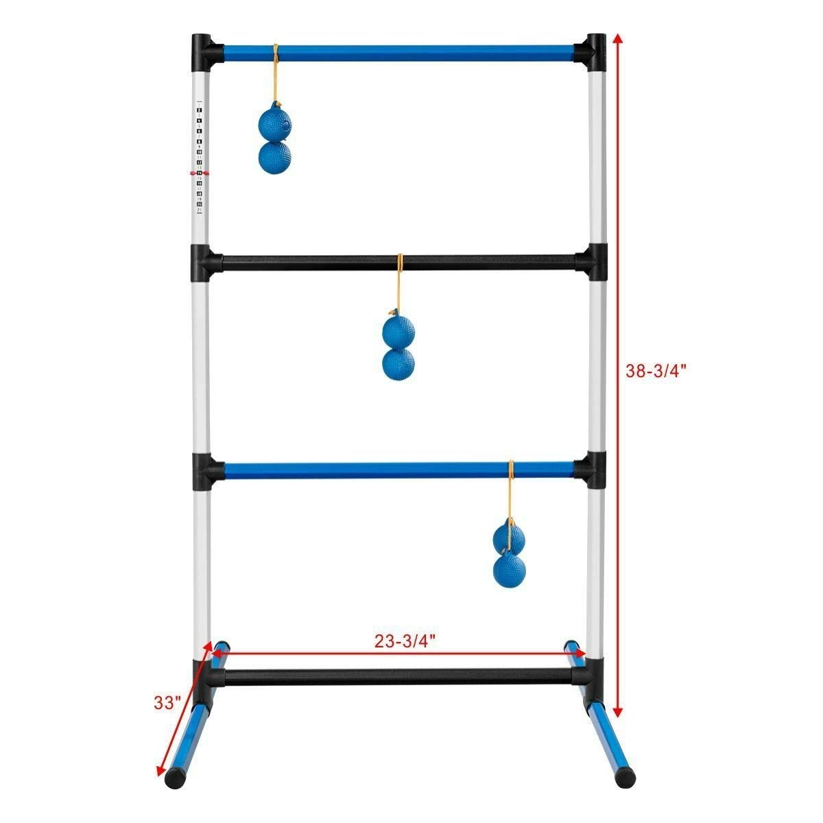 zwan Indoor Outdoor Portable Ladder Ball Toss Game Set with Bag with Ebook