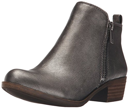 Lucky Brand Women's Basel Boot, Pewter, 7.5 M US