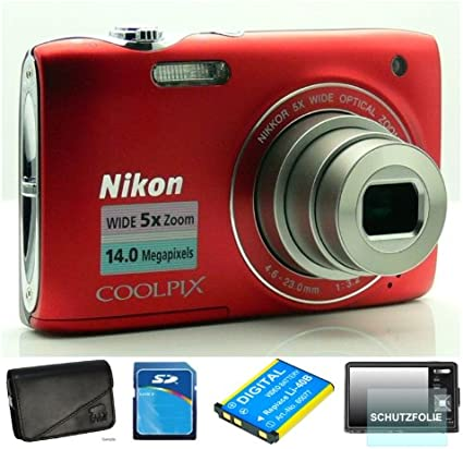 Nikon Coolpix S3100 Rot Digitalkamera 2 7 Zoll Inkl Kamera