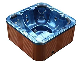 Outdoor Whirlpool Hot Tub Troja Spa Farbe Blau mit 44: Amazon.de ...