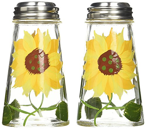 Grant Howard Hand Painted Tapered Salt and Pepper Shaker Set, Sunflowers, Yellow by Grant (Hand Painted Salt Shaker)