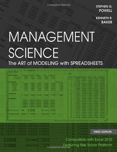 Management Science: The Art of Modeling with Spreadsheets