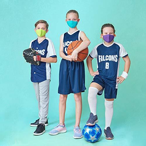 Crayola Kids Face Mask - 5 Reusable Cloth Face Masks Set, Cool Colors, Back to School Supplies