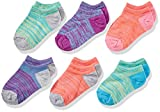 Fruit of the Loom Girls' No Show Socks-6 Pack