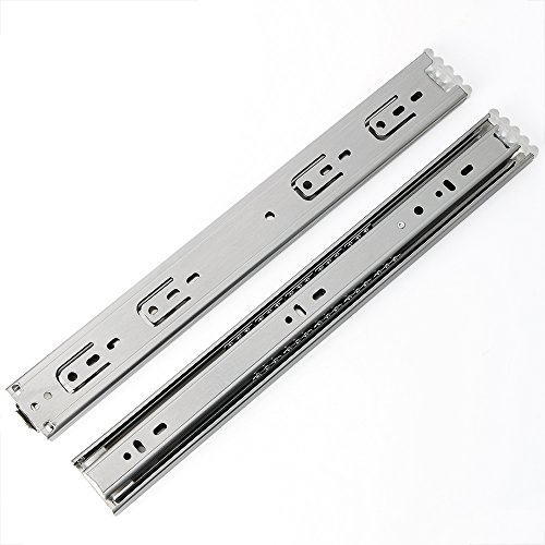 Alise 14-Inch Steel Ball Bearing Drawer Slides,Quiet and Smooth,1-4/5 Inch Wide,Made of Stainless Steel