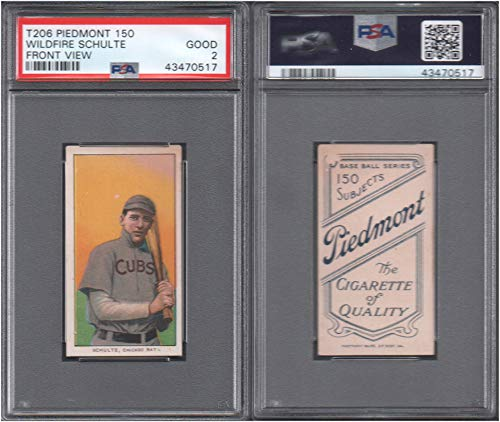 1909 t206 tobacco (baseball) card#420 psa wild fire schulte (front view) (psa) of the Chicago Cubs Grade Good