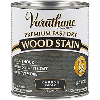 Rust-Oleum 304559 Premium Fast Dry Wood Stain, 32 oz, Carbon Gray