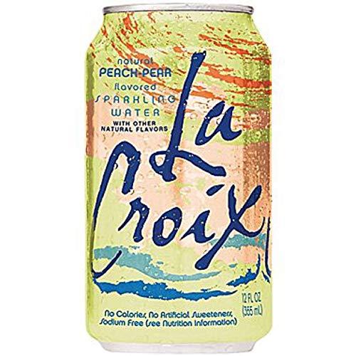 La Croix Sparkling Water, 12 Ounce (48 Cans) (Peach Pear)
