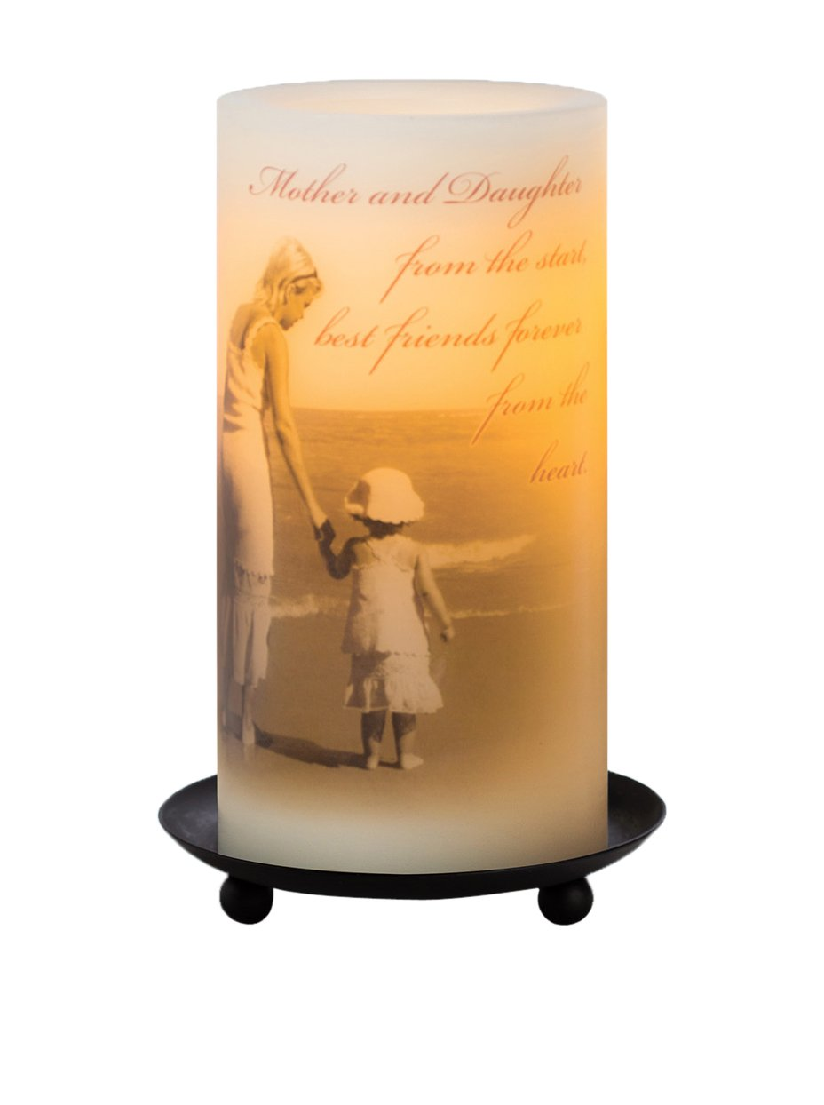 Candle Impressions ''Mother and Daughter Sentiment'' Flameless Candles with Timer