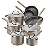 Circulon Premier Professional 13-piece Hard-anodized Cookware Set Chocolate Stainless Steel Base