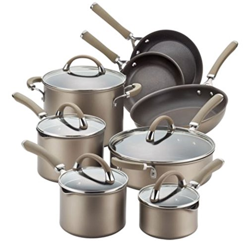 Circulon Premier Professional 13-piece Hard-anodized Cookware Set Chocolate Stainless Steel Base by Circulon