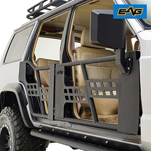 (EAG Tubular Doors with Mirrors for 1984-2001 Jeep Cherokee XJ)
