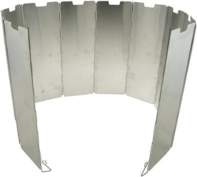 EXQUILEG Aluminio Protector de Viento, Plegable Parabrisas: para Uso Backpacking Hornos, Camping kochern, Butano de Gas kochern, Spiritus kochern