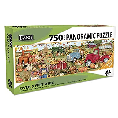Lang Companies, Harvest Truck 750 Piece Panoramic Puzzle: Toys & Games