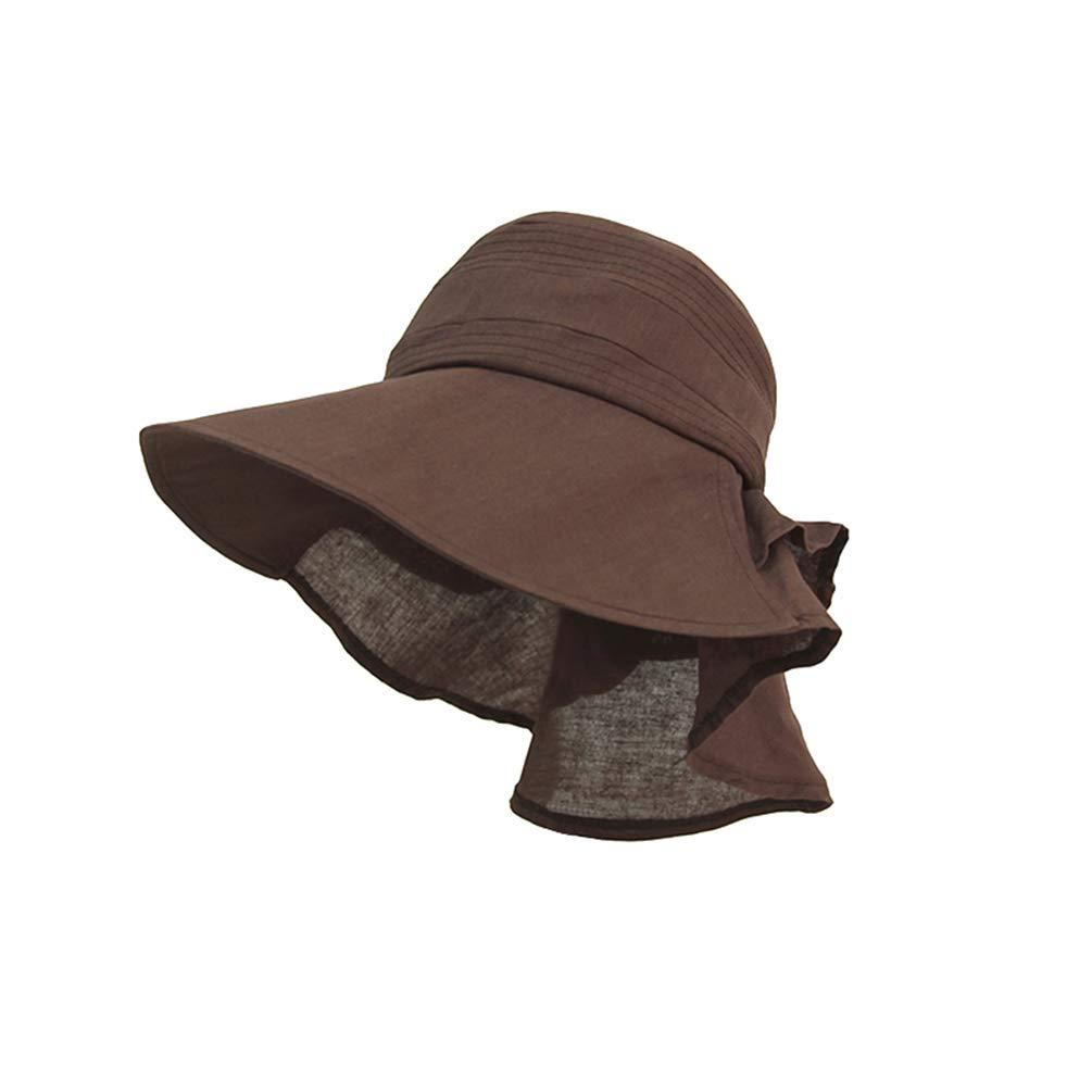LLmoway Women Sun Hats Wide Brim Foldable Lightweight UV Protection Travel Hat