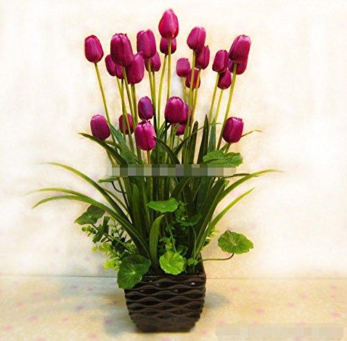 SituMi Artificial Fake Flowers ModernMinimalist StyleTulipTv CabinetCreativeDecorationPurpleBlack Vases by Artificial Flower SituMi