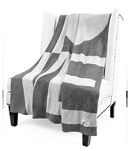 Giraffe at Home Dolce Love Throw, Charcoalsilver, 45'' x 59'' by Little Giraffe