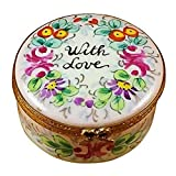 ROUND - WITH LOVE - STUDIO COLLECTION - LIMOGES BOX AUTHENTIC PORCELAIN FIGURINE FROM FRANCE