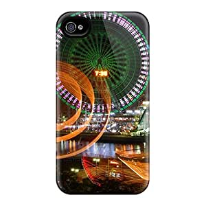 Iphone 4/4s Case, Premium Protective Case With Awesome Look - Night Light Blur