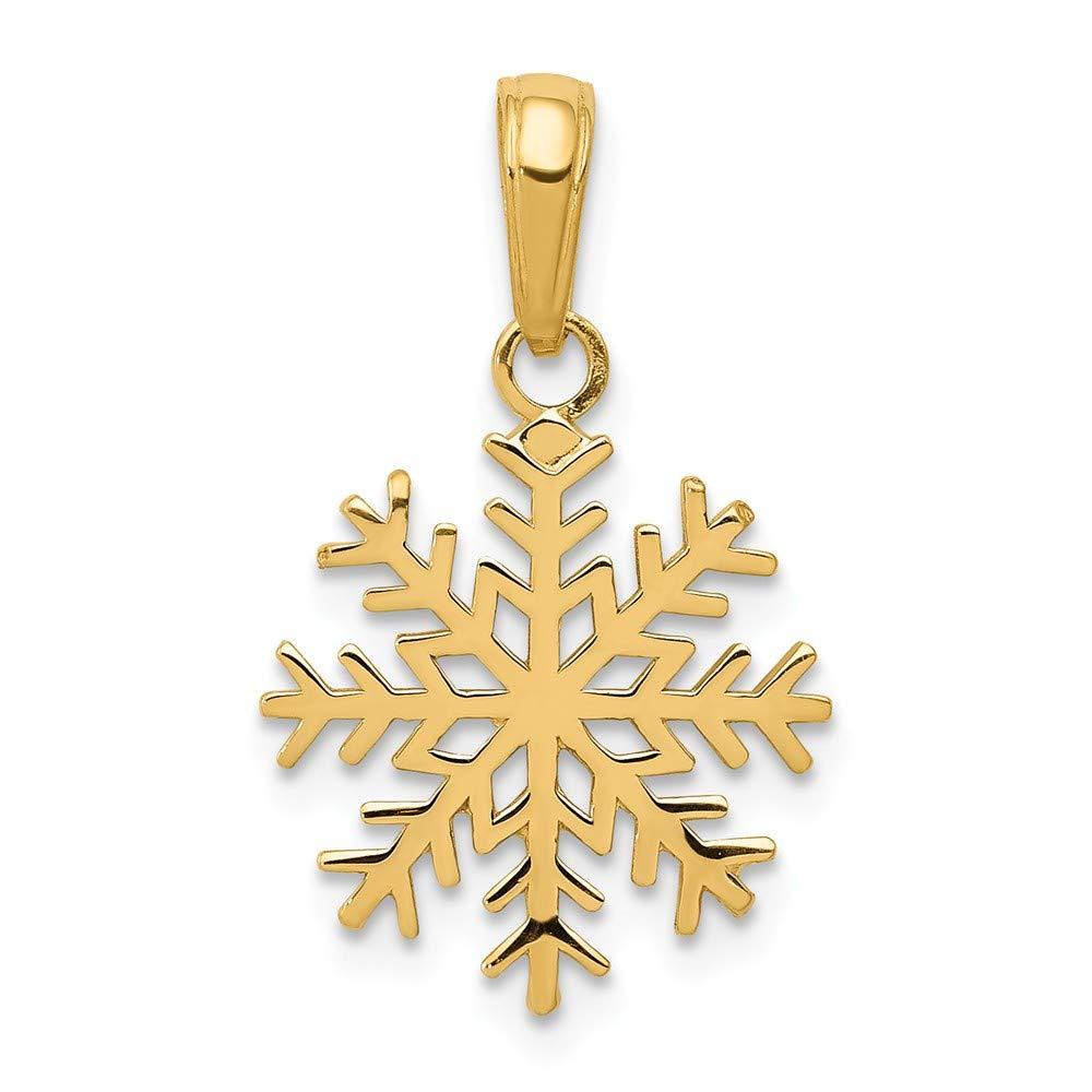 14k 3-D Snowflake Pendant