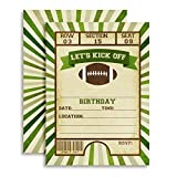 Football Ticket Birthday Party Invitations, Ten 5''x7'' Fill in Cards with 20 White Envelopes by AmandaCreation