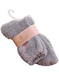 Womens Supersoft Thicken Cozy Home Fuzzy Sleep Crew Socks