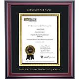 Campus Linens American Nurses Credentialing Center Certificate Frame Black Gold Matting Embossed