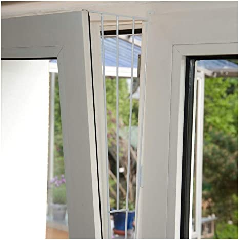 2 x Trixie Kipp Ventana Rejilla de protección, aspecto Element, color blanco – 62 x 16/8 cm, incluye tornillos: Amazon.es: Productos para mascotas