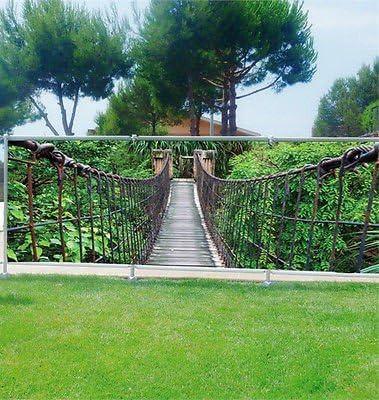 Stickersnews – Cortina Decorativa Personalizada para Jardines, terrazas y Balcones – Ref 3622 – Ocultación – 100% – Dimensiones: 250 x 97 cm: Amazon.es: Hogar