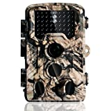Trail Camera,16MP 1080P HD Wildlife Hunting Camera 2.4'' LCD Display 46Pcs IR LEDs 65ft Night Vision,3-Zone PIR Sensors,120°Wide Scouting Angle Wildlife Surveillance Camera Home Security Farm Watching