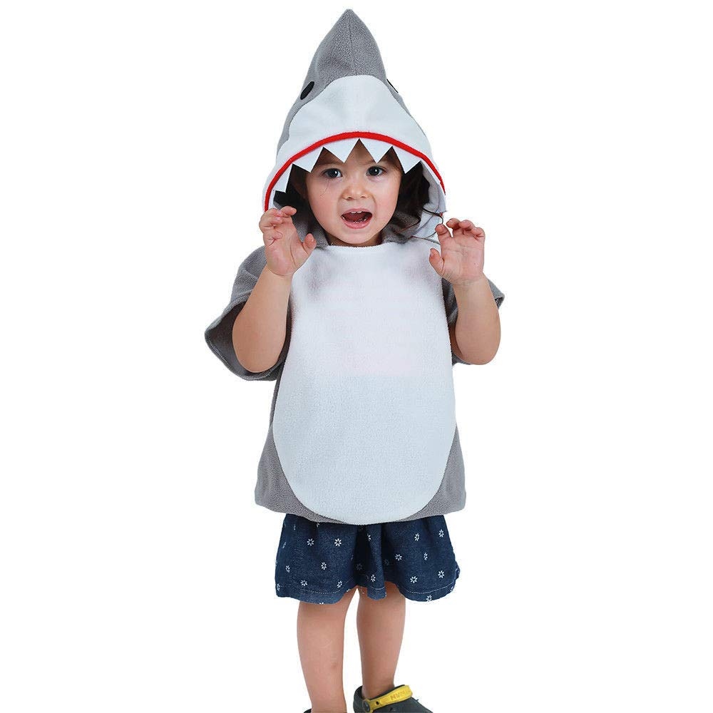 Kids Costume Infant Sharks Cosplay Toddlers Romper Clothing Set Christmas Gifts