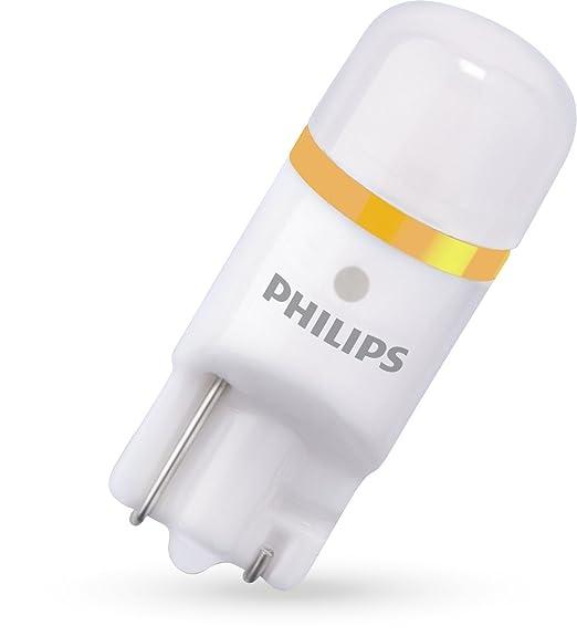 Philips 127994000KX2 X-tremeUltinon LED luz interior para coche W5W T10 4000K 12V, 2 unidades: Amazon.es: Coche y moto