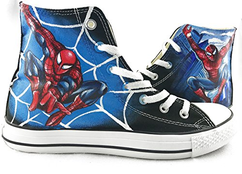- Spider-Man Canvas Shoes Chuck Sneakers Hand Painted Shoes Men Women Sneakers