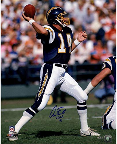 Dan Fouts Signed 1987 Chargers 16x20 Photo w/HOF insc - Steiner Sports Certified - Autographed NFL Photos