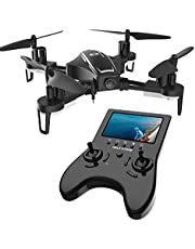 Holy Stone Drone FPV con Cámara 720P RC HS230 Racing de 120 ° FOV HD Video en Vivo con Pantalla LCD NO GPS 45Km / h de Alta Velocidad Quadcopter de 5.8G El Transmisor en Tiempo Real