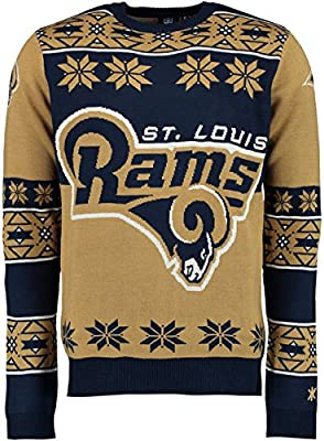 Amazon.com   Klew Ugly Sweater St Louis Rams 06021e77b