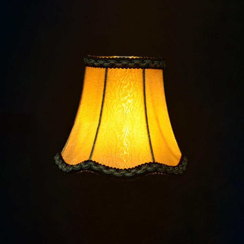 Pantalla de lámpara,Pantalla de Tela Vintage Redondo para ...