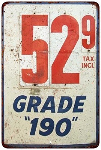 Gas Station Price Sign Grade 190 Vintage Reproduction Sign 8x12 8122843