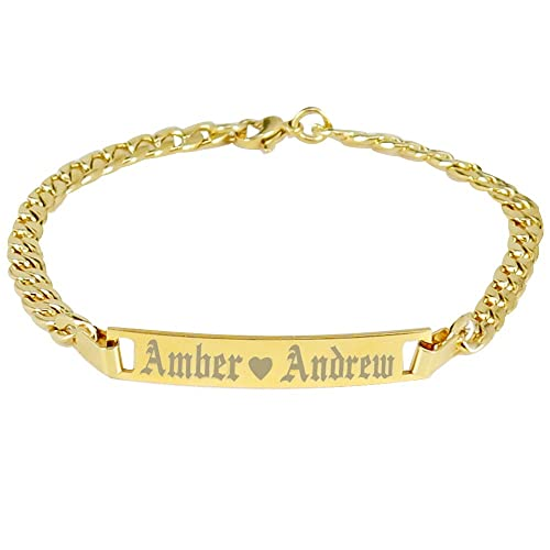 Amazon com: Tina&Co Personalized Stainless Steel Bracelets