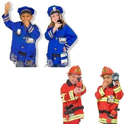 Police Chief Costumes (Melissa and Doug Fire Chief and Police Officer Costume Role Play Set)