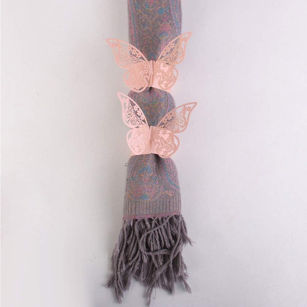 Nicejoy 50 St/ück Serviettenring-Halter Schmetterlings-Papier-Serviette-Ringe Kreative Serviettenring-Halter Hochzeit Tischdekoration Rosa