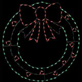 48'' LED Christmas Wreath Wire Decor Outdoor Christmas Decor