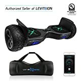 Latest 2018 App-Enabled LEVIT8ION XTREME HUMMER 8.5'' Off Road UL 2272 Hoverboard! 700w Dual Motor All Terrain Tires & Metal Fenders, LED Lights, Bluetooth, Samsung battery & FREE Water Proof Carry Bag