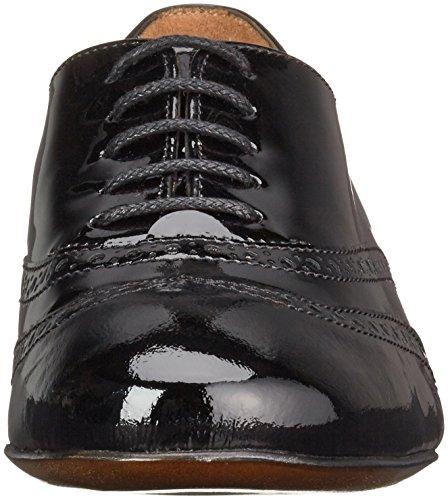 S8487 Vernis Lottusse Schwarz de Brogue Zapatos Mujer Negro Negro para Cordones zdrWdxqRF