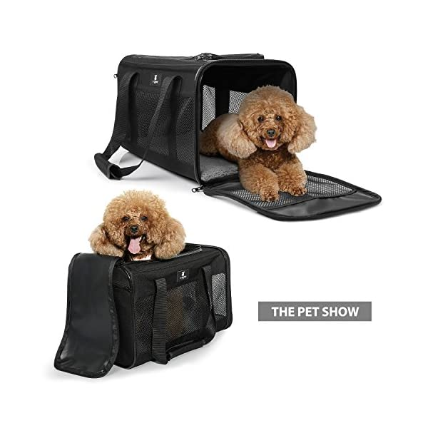 X-ZONE PET Airline Approved Soft-Sided Pet Travel Carrier for Dogs and Cats 6