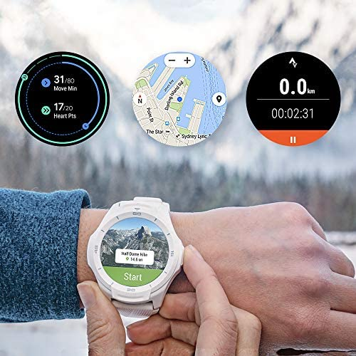Ticwatch S2 Waterproof Smartwatch with Build-in GPS 24h Heart Rate Monitor Wear OS through Google Compatible with Android and iOS-Midnight