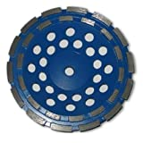 7-inch Diamond Cup Grinding Wheel Double Row Grit 30~40, 5/8''-11 Threaded Adapter Hole, For Concrete