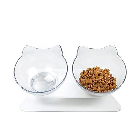 Cuenco de Comida para Gatos con Recipiente de Comida Elevado, Ideal para Gatos y Perros